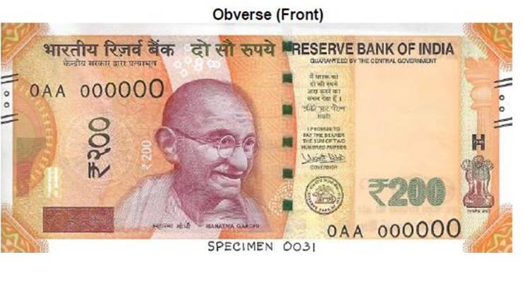 Image result for New Rs 200 note to be issued from today, The Reserve Bank of India