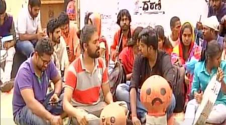 NSD Bengaluru students protest after being evicted over unpaid rent