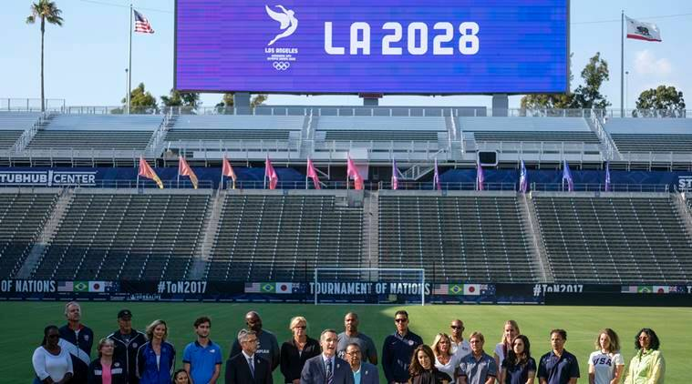 los angeles olympics, paris olympics, olympics cities, 2024 olympics, 2028 olympics, summer olympics, sports news, ioc, indian express