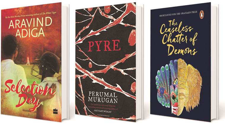 Aravind Adiga Selection Day, aravind adiga, Perumal Murugan Pyre, Perumal Murugan, Ashok Ferrey The Ceaseless Chatter of Demons, Ashok Ferrey, DSC Prize for South Asian Literature 2017, books, indian express news