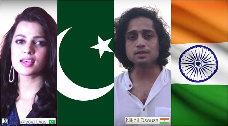 independence day 2017, india, pakistan, national anthem video, 70th independence day, jana gana mana, pak sarzamin, india pakistan peace anthem, peace anthem, voice of ram, indian express, indian express news