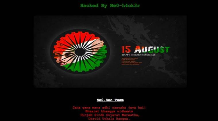 Pakistan Govt website hacked, Indian Independence Day greetings displayed