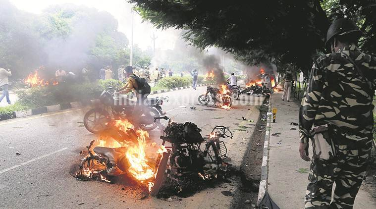 dera sacha sauda, gurmeet ram rahim singh, dera gaurds, chandigarh, panchkula violence, dera men arrested, indian express