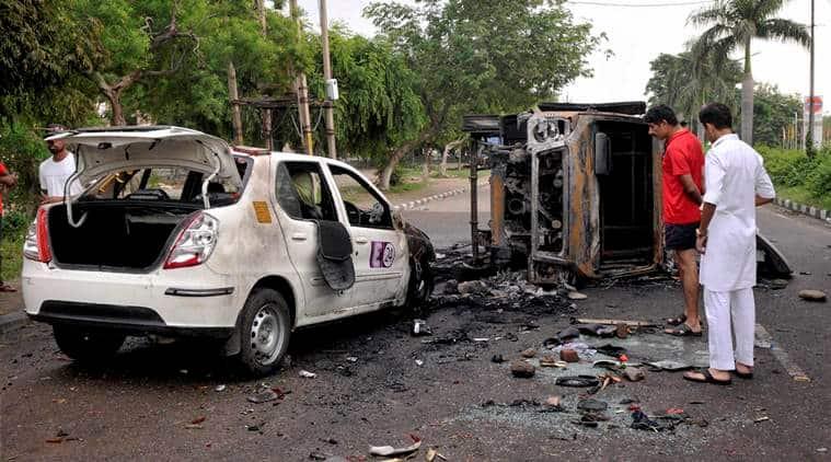 dera violence, gurmeet ram rahim singh, dera sacha sauda, ram rahim verdict, ram rahim rape violence, dera rioting, panchkula riot, indian express news