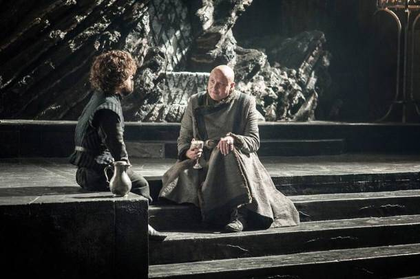 game of thrones, game of thrones season 7, game of thrones season 7 episode 5, game of thrones episode 5 stills, varys, tyrion lannister