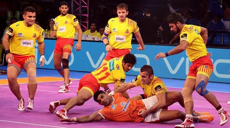 Pro Kabaddi 2017, Gujarat Fortunegiants, Fazel Atrachali, Gujarat Fortunegiants vs Puneri Paltan, Kabaddi news, Indian Express