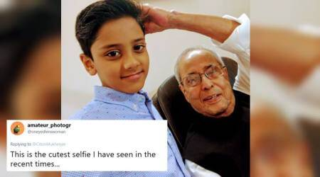 Pranab Mukherjee learns to take selfie from a kid; photo winning hearts online
