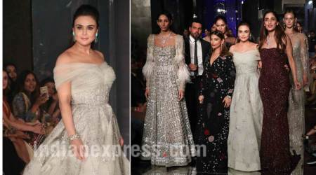 LFW W/F 2017: Preity Zinta dazzles on the ramp for Shane and Falguni Peacock on Day 3