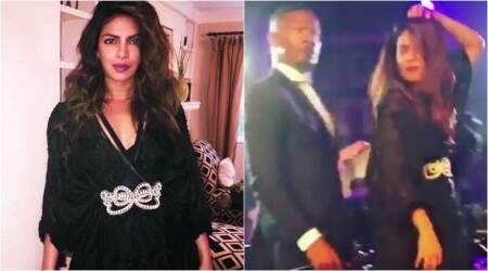 Priyanka Chopra burns the dance floor with Jamie Foxx, post the wrap up of Isn't It Romantic. Watch video