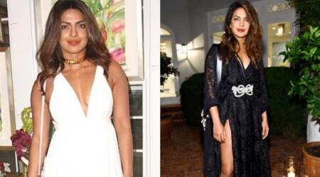 Priyanka Chopra stuns in this sheer black dress but fails to deliver in the white summery number