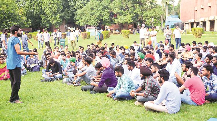 Panjab University elections, PU campus elections, PU campus elections campaigning, Panjab University parties, student elections, indian express news