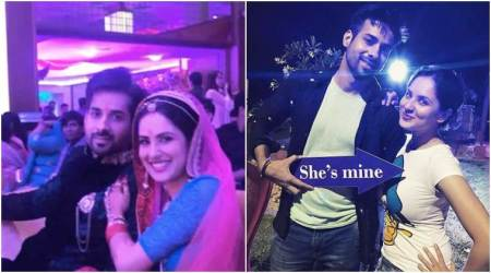 TV couple Puja Banerjee and Kunal Verma get engaged in a lavish ceremony. See photos, videos