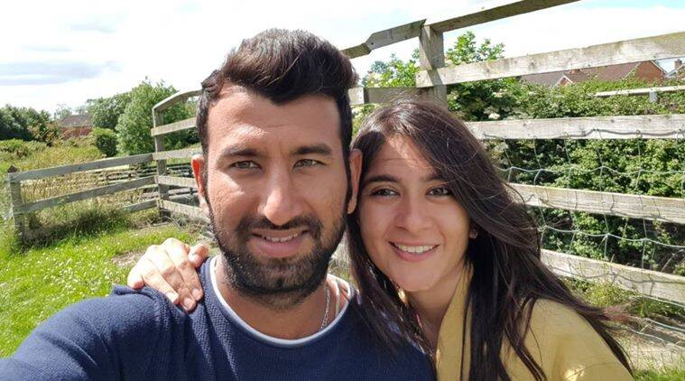 cheteshwar pujara, pujara, puja, pujara wife, india vs sri lanka, cricket, sports news, indian express