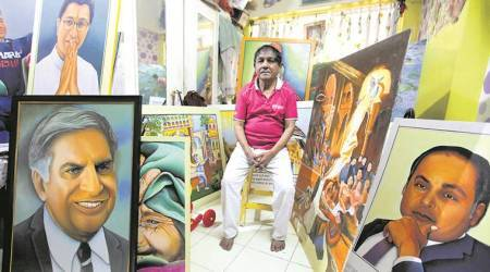 Stroke of fate: Financial struggle pushes painter to take up job as a security guard
