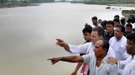 Rahul Gandhi surveys flood affected areas of Rajasthan; says no proper relief at some places