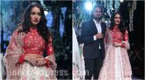 Shraddha Kapoor, Rahul Mishra, lakme fashion week, lakme fashion week 2017, lakme fashion week winter/fastive, lfw f/w 2017, lakme fashion week day 3, lakme fashion week celebs, rahul mishra lakme fashion week, rahul fashion eve collection, fashion news, indian news