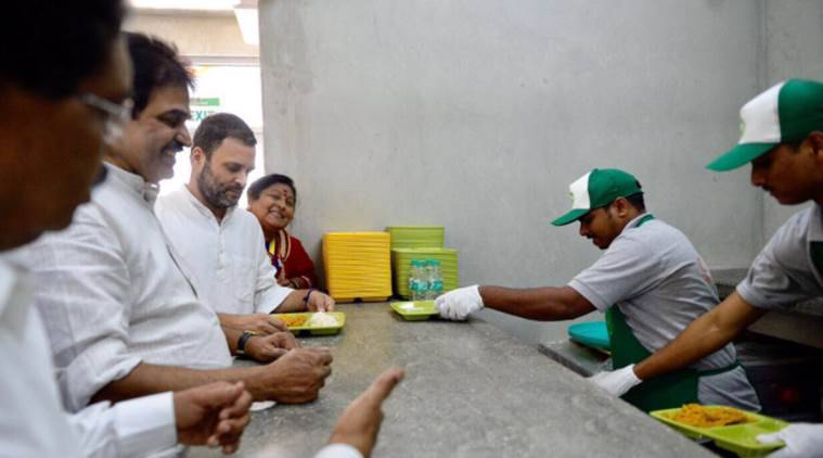 Rahul Gandhi, Indira Canteen, Amma canteen, difference between Indira and Amma canteen, Bangalore, Siddramaiah,