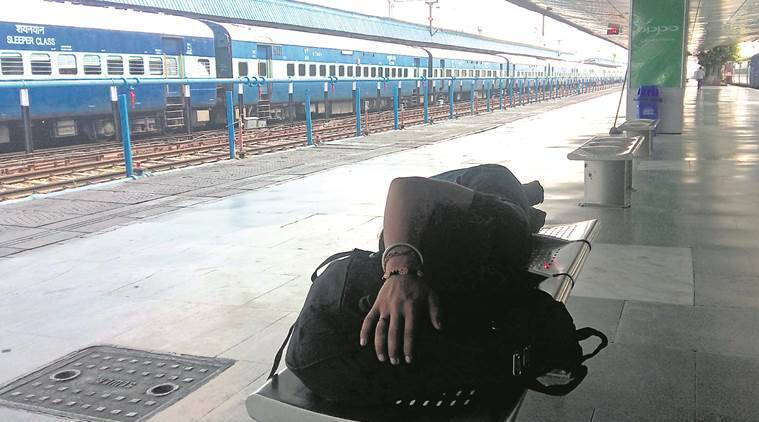 CHANDIGARH railway station, CHANDIGARH railway station reopens, Gurmeet Ram Rahim, Panchkula violence, Dera violence, Panchkula violence hits railway services, indian express news