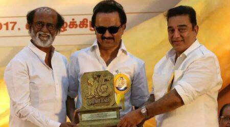 Kamal Haasan on stage, Rajinikanth in audience: Here's what transpired at DMK event