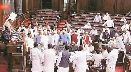 Ruckus in Rajya Sabha over EC notification on NOTA, Opposition says provision amounts to 'rigging'