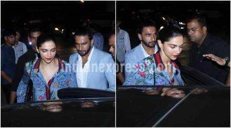 Photos: Ranveer Singh and Deepika Padukone on their way to a casual dinner date