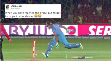 Rohit Sharma's 'epic run out' in Ind vs Sri Lanka match becomes a hilarious meme on Twitter