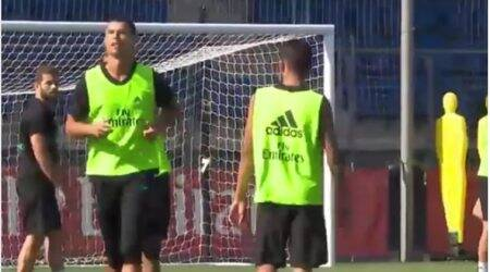 Cristiano Ronaldo scores sublime goal in training, watch video