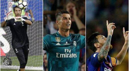 Gianluigi Buffon, Lionel Messi and Cristiano Ronaldo on UEFA player of the year shortlist