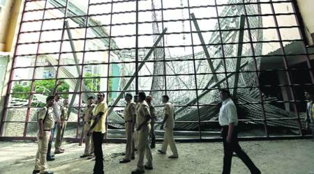 One dead, 14 injured after roof of under construction indoor stadium cave-in in Noida