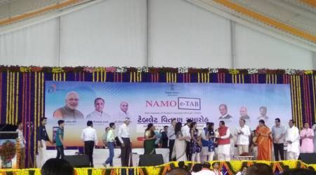 Distributing NAMO tabs to students is like giving them Lord Krishna's Sudarshan Chakra: Vijay Rupani