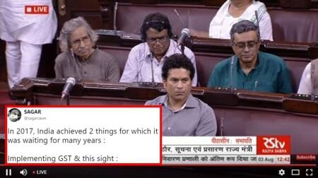 'Eid Ka Chand': Sachin Tendulkar attends Rajya Sabha and Twitterati have a field day