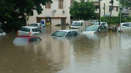 Morning downpour paralyses normal life in Chandigarh, Panchkula,Mohali
