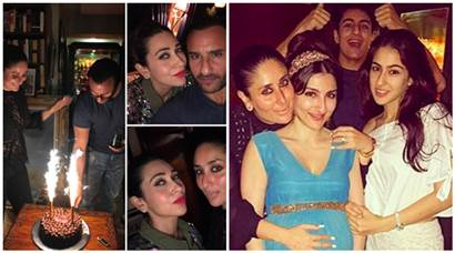Kareena Kapoor, Sara Ali Khan and Ibrahim Ali Khan attend Saif Ali Khan's birthday bash. See inside pictures