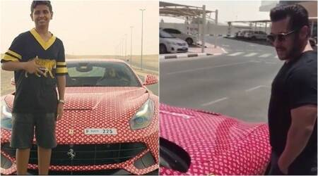 Watch: Salman Khan drools over the customised Ferrari of a super-rich Dubai kid
