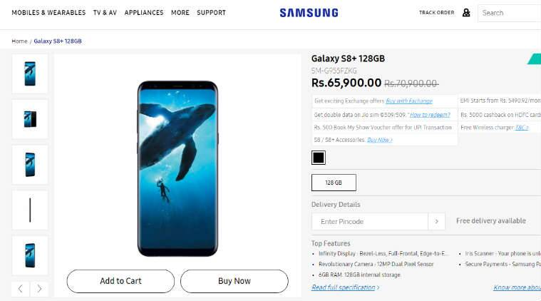 Samsung, Samsung Galaxy S8+, Galaxy S8+ price cut, Samsung Galaxy S8+ cut, Samsung Galaxy S8 Plus price cut