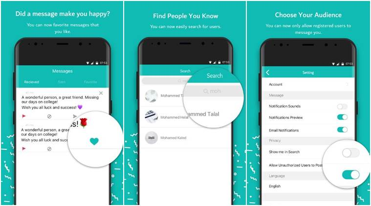 How to use Sarahah app, privacy policy and everything else