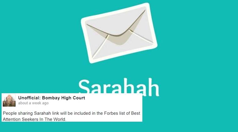 sarahah, sarahah funny, what is sarahah, sarahah on facebook, sarahah trending, sarahah latest, sarahah app, sarahah bullying on internet, sarahah trend on internet, indian express, indian express news