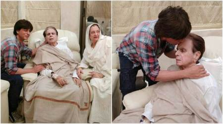 Photos: Dilip Kumar's 'mooh-bola-beta' Shah Rukh Khan visits him, showers love on the iconic actor