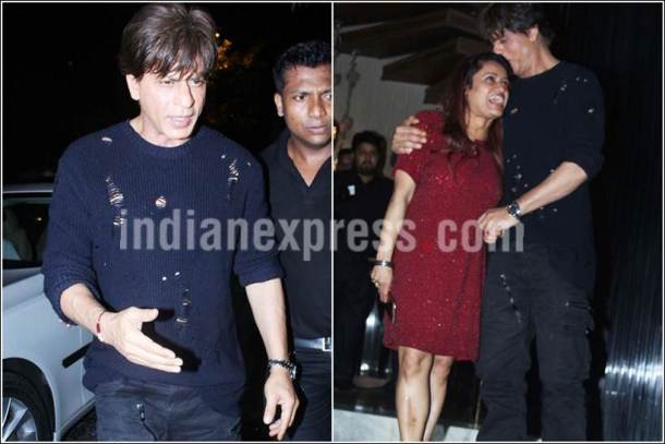 shah rukh khan, shah rukh khan jab harry met sejal, shahrukh party images, shah rukh khan images