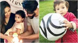 Misha Kapoor Cuts Her First Birthday Cake