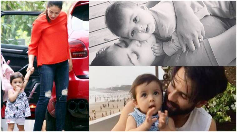 shahid kapoor, misha first steps, misha photos, shahid kapoor daughter images