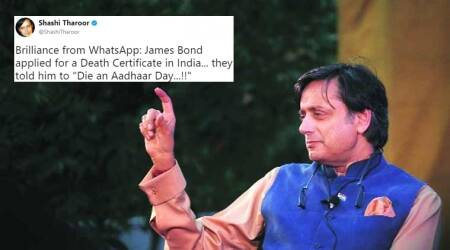 'Die An Aadhaar Day': Shashi Tharoor tweets WhatsApp joke on Aadhaar being made mandatory for death registration