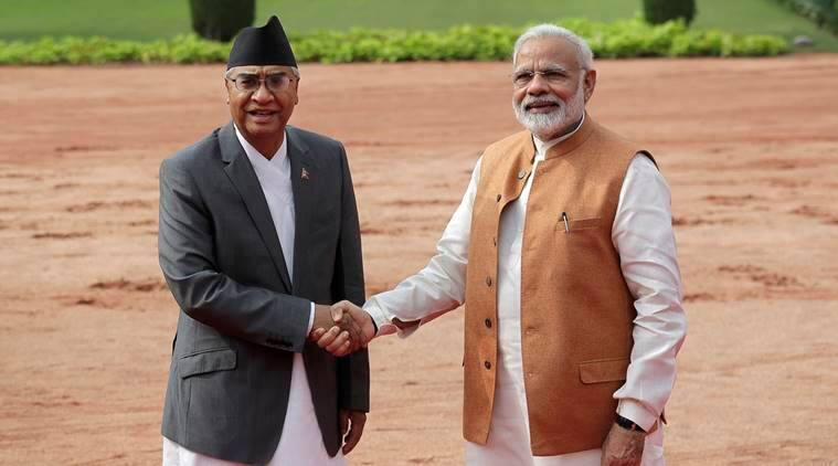 PM Deuba returns home from India