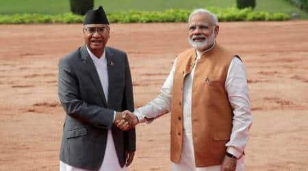 Sher Bahadur Deuba, Sher Bahadur Deuba in india, modi deuba, deuba in india, deuba met modi, india nepal, india nepal relations, india nepal ties, indian express news, world news