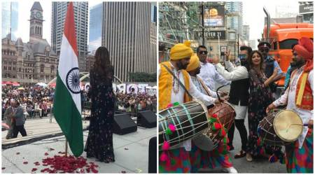Photos: Shilpa Shetty's 'mera Bharat mahaan' moment in Toronto at the India Day Parade