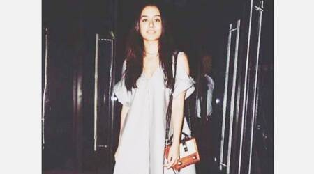 Shraddha Kapoor gives casual-chic vibes in this silver-grey Malloni dress