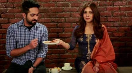 Shubh Mangal Saavdhan: Ayushmann Khurrana, Bhumi Pednekar pick laddoos over biscuits. Here's why. Watch video