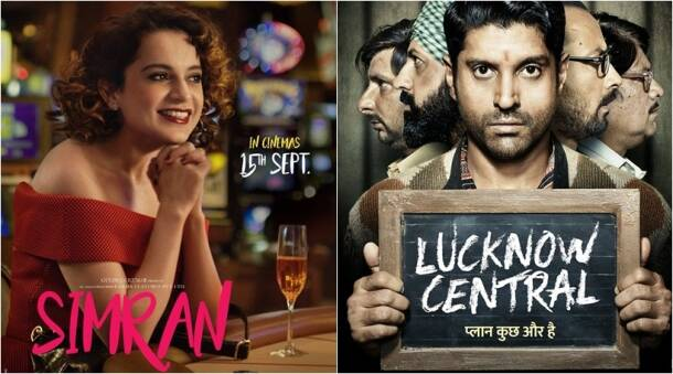 box office clashes, bollywood clashes, simran poster, lucknow central poster, simran lucknow central clash