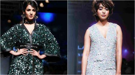 Showstoppers Sonal Chauhan, Sayani Gupta exchange compliments at LFW 2017