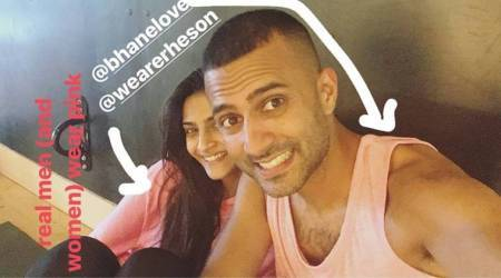 Sonam Kapoor and Anand Ahuja are slaying in pink, see photos